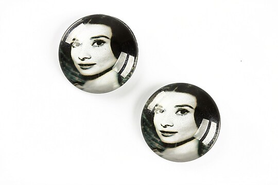 "Cabochon sticla 20mm ""Retro"" cod A1352"