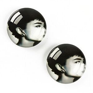 "Cabochon sticla 20mm ""Retro"" cod A1357"