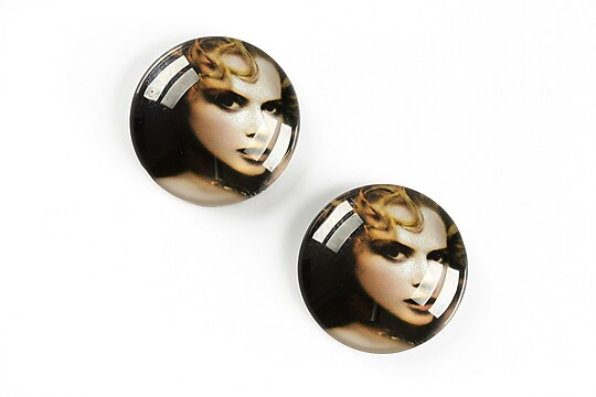 "Cabochon sticla 20mm ""Retro"" cod A1369"