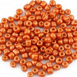 Margele de nisip lucioase 4mm (50g) - cod 169 - portocaliu