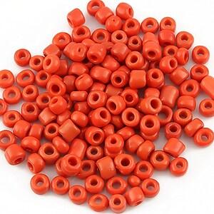 Margele de nisip opace 4mm (50g) - cod 162 - rosu-portocaliu