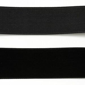 Panglica catifea neagra, latime 2,5cm (50cm)