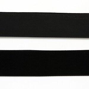 Panglica catifea neagra, latime 2cm (50cm)