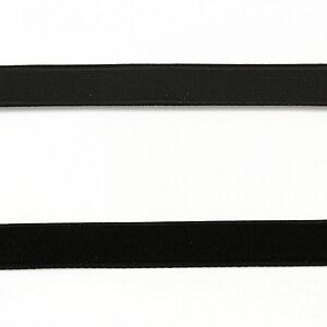 Panglica catifea neagra, latime 1cm (50cm)