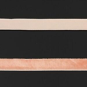 Panglica aspect catifea portocaliu somon, latime 1cm (50cm)