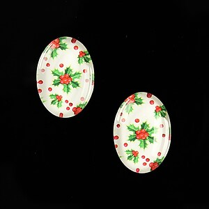 "Cabochon sticla 18x13mm ""Christmas"" cod 595"