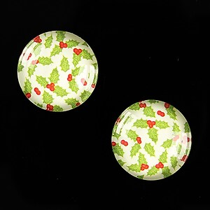 "Cabochon sticla 18mm ""Christmas"" cod 604"