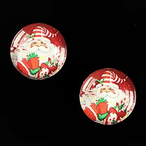 "Cabochon sticla 18mm ""Christmas"" cod 606"