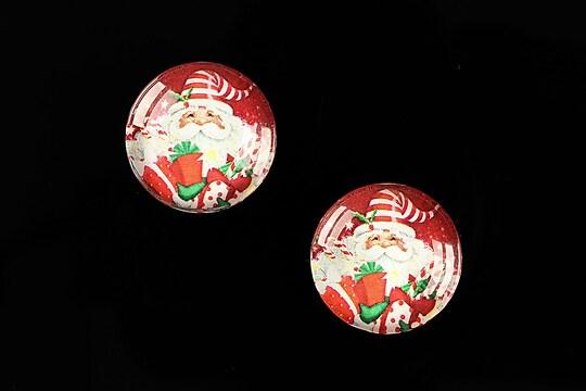 "Cabochon sticla 18mm ""Christmas"" cod 606"