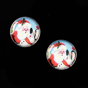 "Cabochon sticla 16mm ""Christmas"" cod 609"