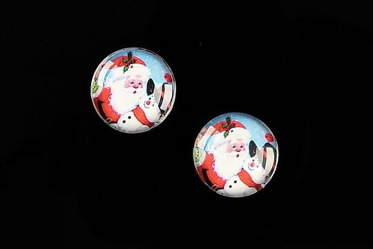 "Cabochon sticla 16mm ""Christmas"" cod 609"