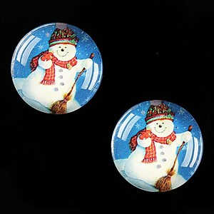 "Cabochon sticla 20mm ""Christmas"" cod 613"