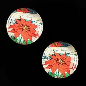 "Cabochon sticla 20mm ""Christmas"" cod 616"