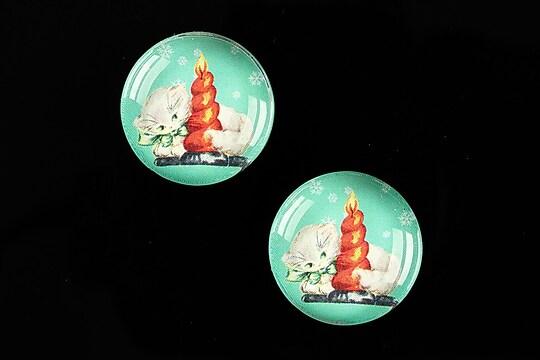 "Cabochon sticla 20mm ""Christmas"" cod 618"