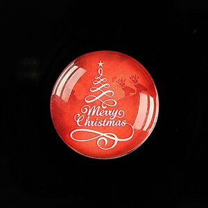 "Cabochon sticla 25mm ""Christmas"" cod 619"