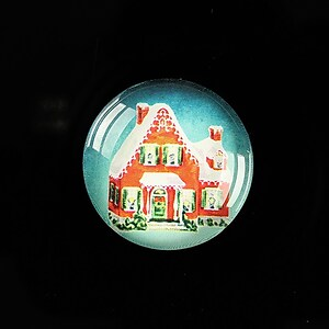 "Cabochon sticla 25mm ""Christmas"" cod 620"