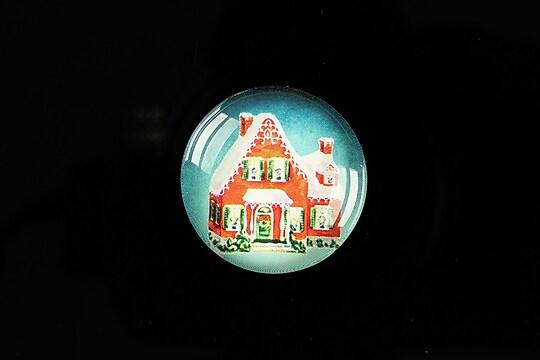 "Cabochon sticla 25mm ""Christmas"" cod 620"