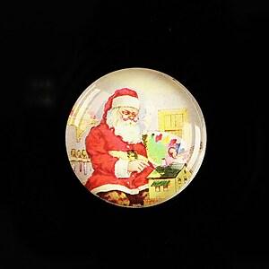 "Cabochon sticla 25mm ""Christmas"" cod 621"