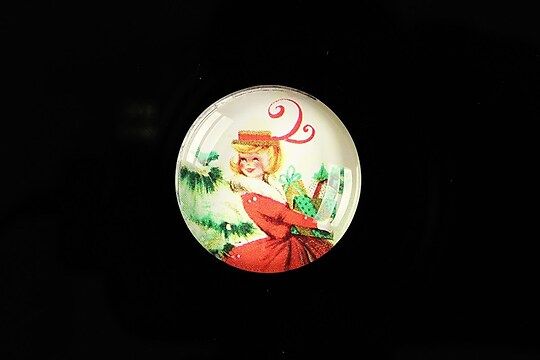"Cabochon sticla 25mm ""Christmas"" cod 622"