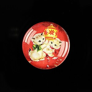 "Cabochon sticla 25mm ""Christmas"" cod 623"