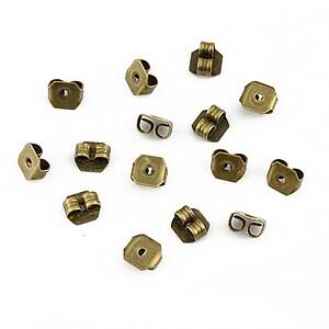Stoppere metalice bronz pentru cercei (20buc.)