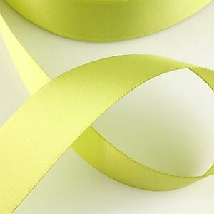 Panglica saten latime 2,5cm (1m) - verde fistic