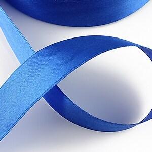 Panglica saten latime 2,5cm (1m) - albastru safir