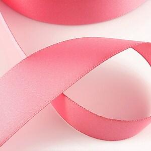 Panglica saten latime 2,5cm (1m) - pink