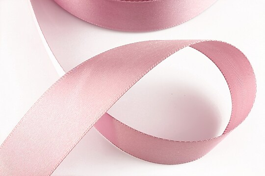 Panglica saten latime 2,5cm (1m) - roz balais