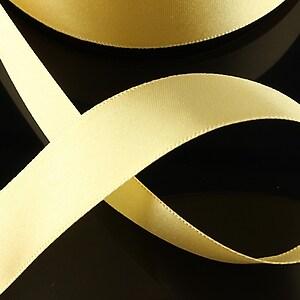 Panglica saten latime 2,5cm (1m) - crem auriu