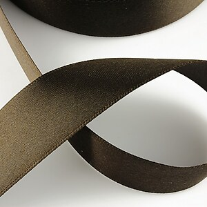 Panglica saten latime 2,5cm (1m) - brun
