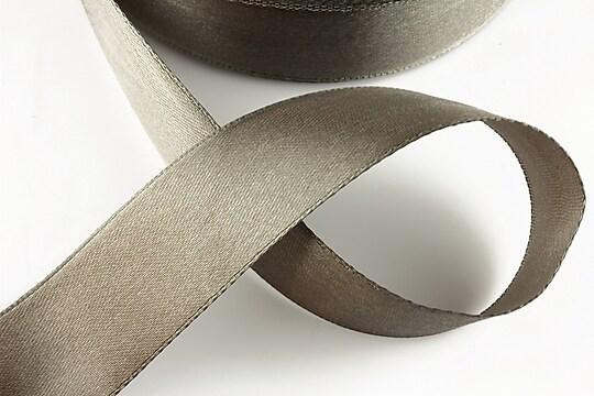 Panglica saten latime 2,5cm (1m) - gri inchis