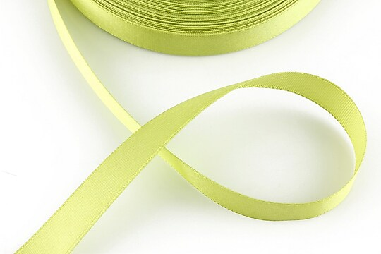 Panglica saten latime 1,4cm (1m) - verde tei