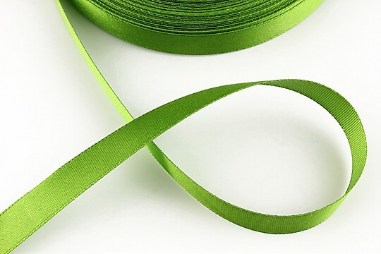 Panglica saten latime 1,4cm (1m) - verde olive