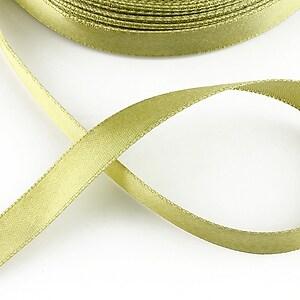 Panglica saten latime 1,4cm (1m) - olive deschis