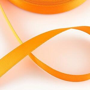 Panglica saten latime 1,4cm (1m) - portocaliu