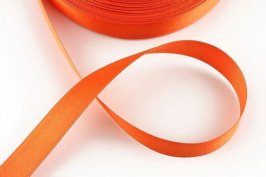 Panglica saten latime 1,4cm (1m) - rosu portocaliu