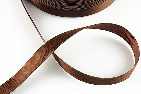 Panglica saten latime 1,4cm (1m) - maro