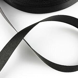 Panglica saten latime 1,4cm (1m) - negru