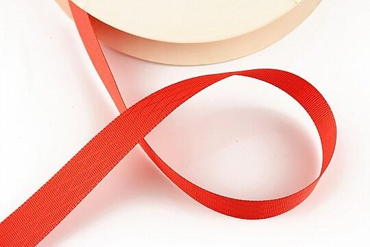 Panglica saten rosie cu model in carouri, latime 1,2cm (1m)