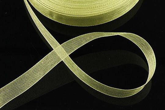 Panglica organza, latime 1,4cm (1m) - verde tei