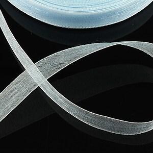 Panglica organza, latime 1,4cm (1m) - bleu