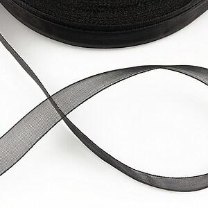 Panglica organza, latime 1,4cm (1m) - negru