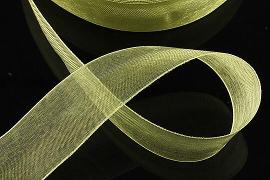 Panglica organza, latime 2,4cm (1m) - verde tei