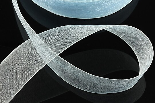 Panglica organza, latime 2,4cm (1m) - bleu
