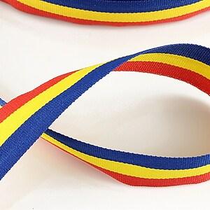 Panglica tricolor material textil, latime 2cm (1m)