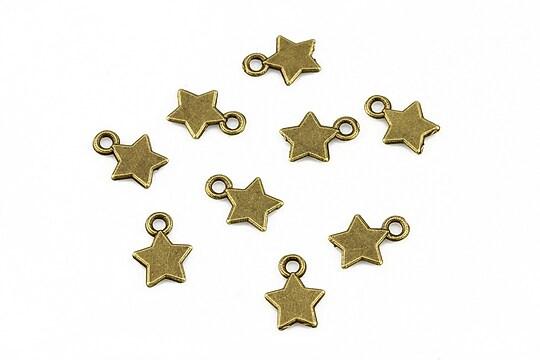 Charm bronz stea 10x8mm