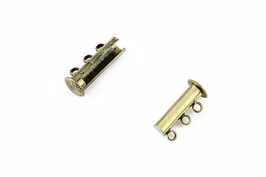 Inchizatoare magnetica multisir cu 3 bucle, bronz 20x10mm
