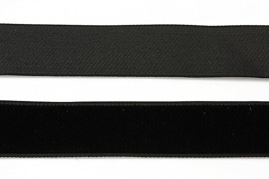 Panglica aspect catifea neagra, latime 2cm (1m)