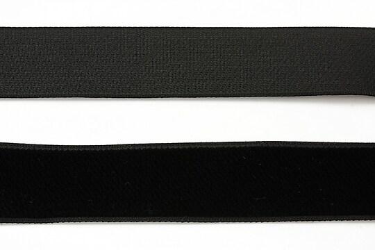 Panglica aspect catifea neagra, latime 2,3cm (1m)